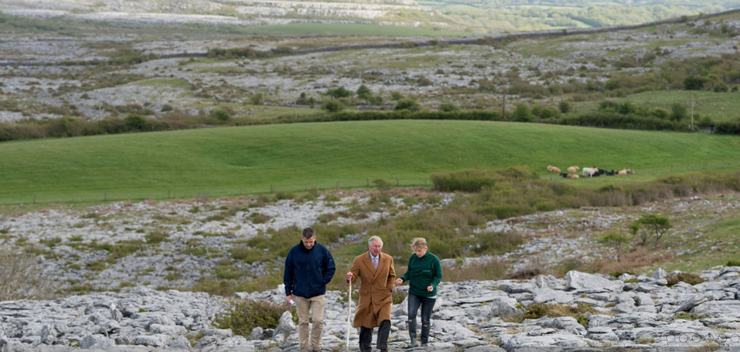 Prince Charles explores the Burren