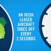 An Irish leased aircraft takes off every 2 seconds